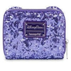 Disney Mickey Mouse Potion Purple Sequined Wallet