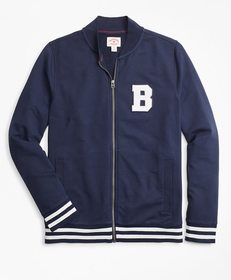 Brooks Brothers French Terry Letterman Lightweight