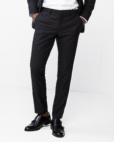 Express extra slim double stripe wool-blend suit p