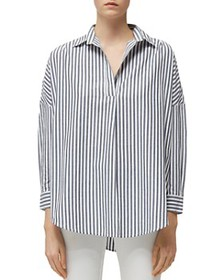 FRENCH CONNECTION - Rhodes Striped Pullover Cotton
