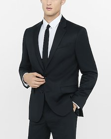 Express classic black wool blend twill suit jacket