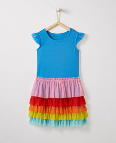Hanna Andersson Rainbow Flutter Dress In Soft Tull