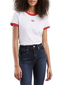 Levi's Perfect Ringer Tee WHITE