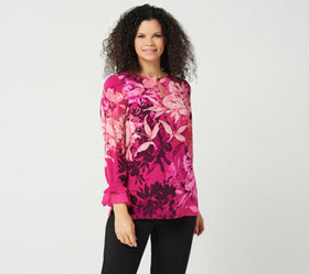 """As Is"" Susan Graver Printed Liquid Knit Embellish"