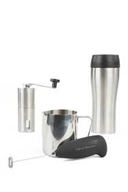 Mindreader Stainless Steel Coffee Lovers 4-Piece S