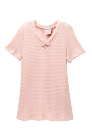 FOR ALL SEASONS Waffle Knit Cross Front Tee (Big G