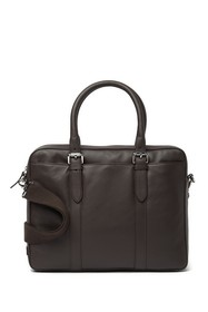 Cole Haan Smooth Leather Attache Case