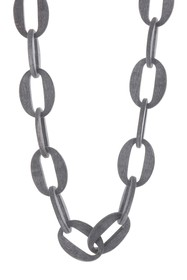 Nest Jewelry Matte Horn Large Link Necklace