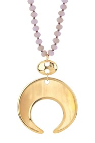 Nest Jewelry Lavender Agate & Horn Pendant Necklac