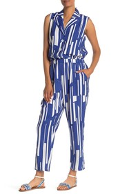ONE ONE SIX Printed Sleeveless Jumpsuit