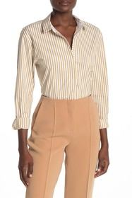 Lafayette 148 New York Sabira Striped Covered Plac
