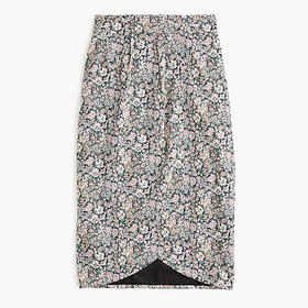J. Crew Tie-back tulip skirt in Liberty® floral