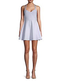 French Connection Crossback Fit-&-Flare Dress SEAB
