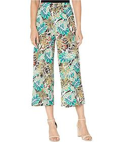 eci Tropical Printed Mesh Knit Crop Pants