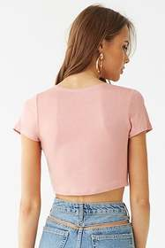 Forever21 Twist-Front Crop Top