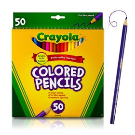 Crayola Colored Pencils, Coloring Supplies, 50 Cou