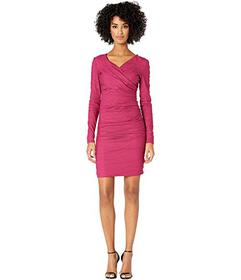 Nicole Miller Surplice Tuck Dress