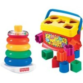 Fisher-Price Rock-a-Stack and Baby's 1st Blocks Bu