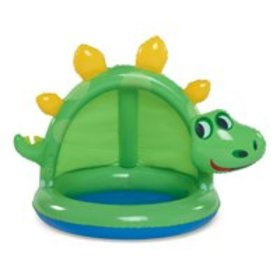 Summer Waves Round Inflatable Dinosaur Baby Pool,