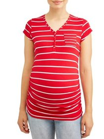 Maternity Stripe with Pocket Knit Top - Available