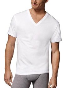 Hanes Tall Men's Comfortsoft Fresh IQ White V-neck