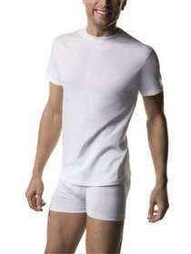 Big Men's FreshIQ ComfortSoft White Crew Neck T-Sh