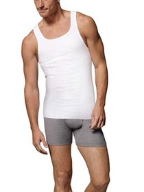 Big Men's FreshIQ ComfortSoft White Tagless Tank 5