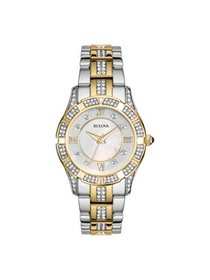 Bulova Women's Two Tone Stainless Steel Bracelet W