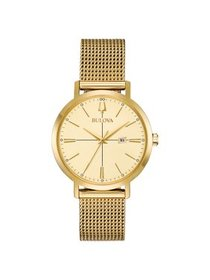 97M115 Aerojet Women's Watch Gold 35mm Stainless S