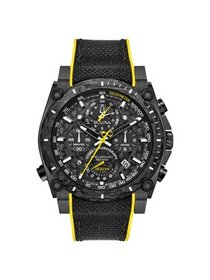 Bulova Men's Precisionist Champlain Black Ion-Plat