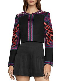BCBGMAXAZRIA - Embroidered Cropped Jacket