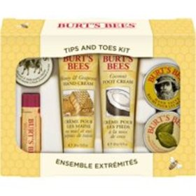 Burt's Bees Tips and Toes Kit Holiday Gift Set, 6