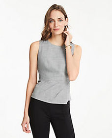 The Pleated Top in Crosshatch