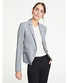 The 1-Button Blazer in Crosshatch