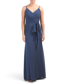 AFTER SIX Surplice Top Gown