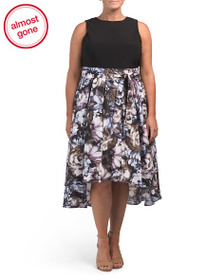 S.L. FASHION Plus Hi Lo Floral Skirt Dress