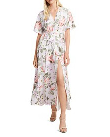 FRENCH CONNECTION - Arimoise Faux-Wrap Floral Dres