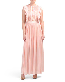 APART Designed In Germany Lace Cut Out Maxi Dress