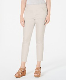 Style & Co Pull-On Slant-Pocket Ankle Pants, Creat