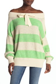 Free People Cassidy Off-the-ShoulderStripe Knit Pu