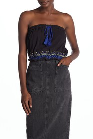 Free People No More Tiers Embroidered Embellished