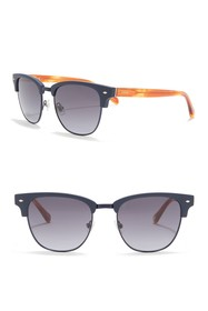 Fossil 52mm Clubmaster Sunglasses