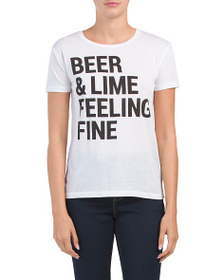 CHASER Beer And Lime Short Sleeve Top