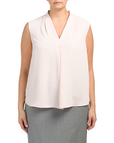 NINE WEST Plus Sleeveless V-neck Blouse