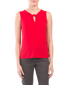 NINE WEST Knot Neck Shell Top
