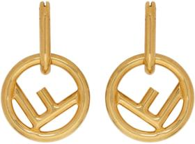 Fendi Gold 'F is Fendi' Hoop Earrings
