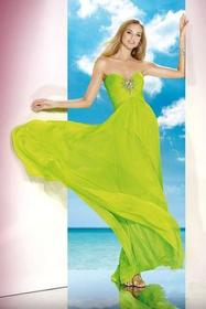 Alyce Paris - B'Dazzle - 35591 Dress in Neon Lime