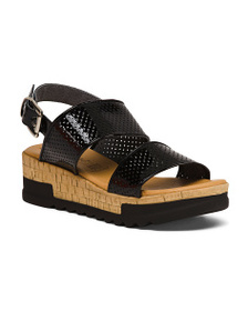PIAMPIANI Made In Italy Patent Leather Sandals