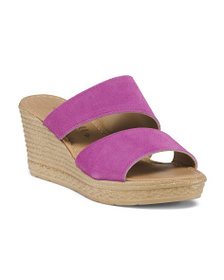 MARIELLA Made In Italy Asymmetrical Suede Sandals