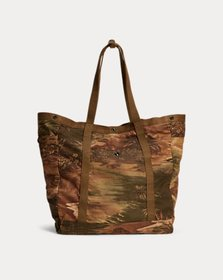 Ralph Lauren Tropical-Print Twill Tote
